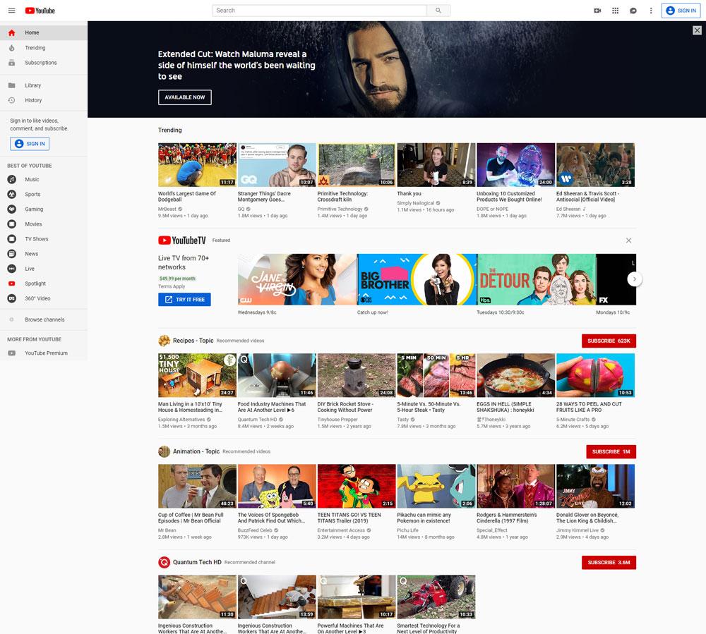 اکانت یوتیوب