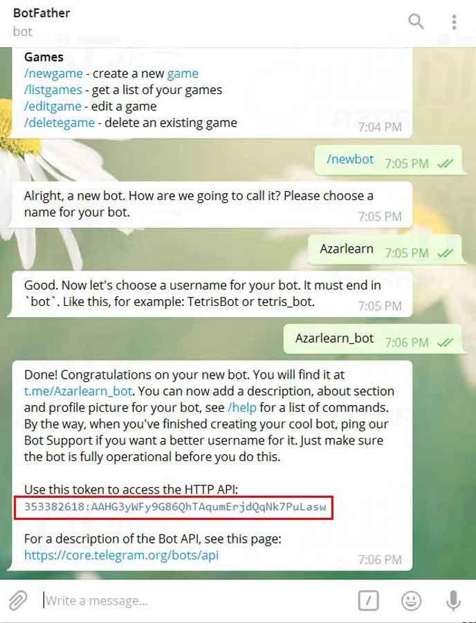 ساخت ربات پیشرفته در تلگرام