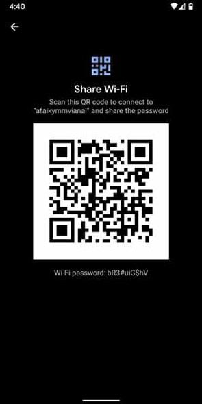 مشاهده رمز وای فای متصل به گوشی