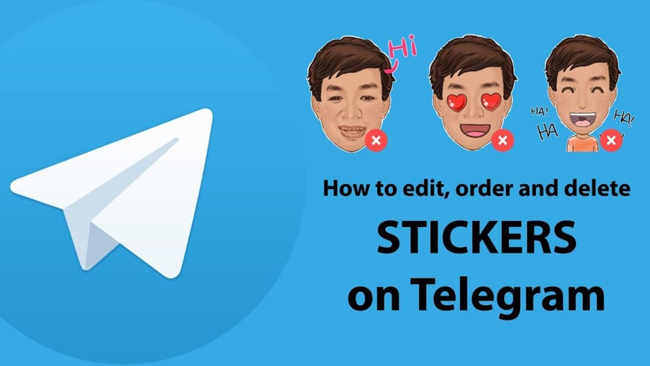 حذف کردن استیکر در تلگرام