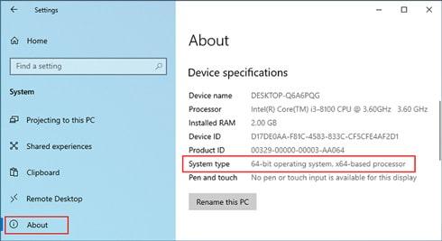 روش های تشخیص ویندوز ۳۲ بیتی از ۶۴ بیتی