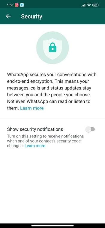 آموزش تنظیمات بخش حساب کاربری واتساپ
