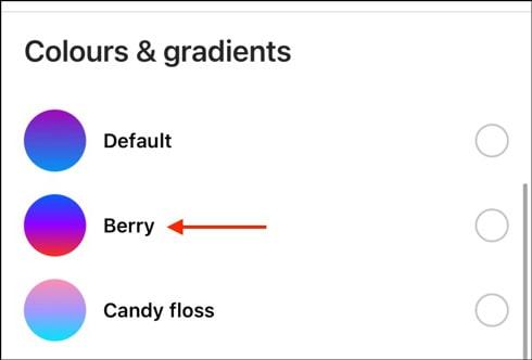 آموزش تغییر رنگ دایرکت اینستاگرام