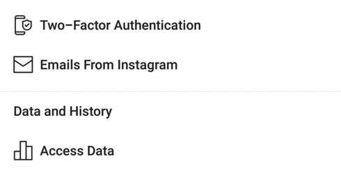 آموزش تنظیمات بخش امنیت اینستاگرام