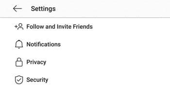 آموزش تنظیمات بخش اکانت اینستاگرام