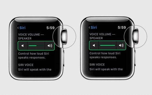 آموزش کم و زیاد کردن صدای سیری روی اپل واچ
